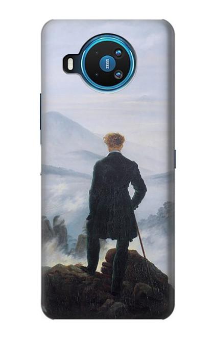 W3789 Wanderer above the Sea of Fog Hülle Schutzhülle Taschen und Leder Flip für Nokia 8.3 5G