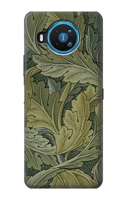 W3790 William Morris Acanthus Leaves Hülle Schutzhülle Taschen und Leder Flip für Nokia 8.3 5G