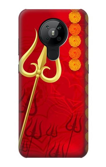 W3788 Shiv Trishul Hülle Schutzhülle Taschen und Leder Flip für Nokia 5.3
