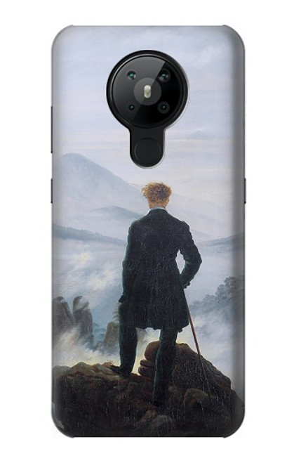 W3789 Wanderer above the Sea of Fog Hülle Schutzhülle Taschen und Leder Flip für Nokia 5.3