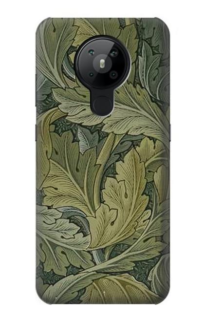 W3790 William Morris Acanthus Leaves Hülle Schutzhülle Taschen und Leder Flip für Nokia 5.3