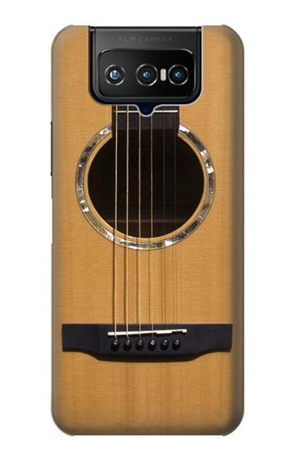 W0057 Acoustic Guitar Hülle Schutzhülle Taschen und Leder Flip für ASUS ZenFone 7 Pro