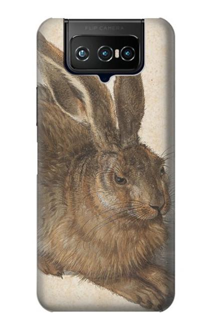 W3781 Albrecht Durer Young Hare Hülle Schutzhülle Taschen und Leder Flip für ASUS ZenFone 7 Pro