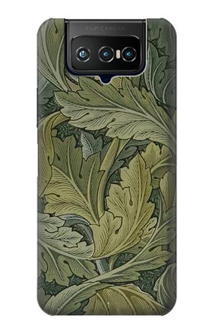 W3790 William Morris Acanthus Leaves Hülle Schutzhülle Taschen und Leder Flip für ASUS ZenFone 7 Pro