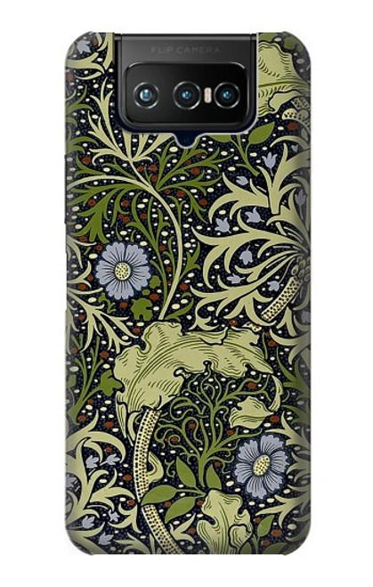 W3792 William Morris Hülle Schutzhülle Taschen und Leder Flip für ASUS ZenFone 7 Pro