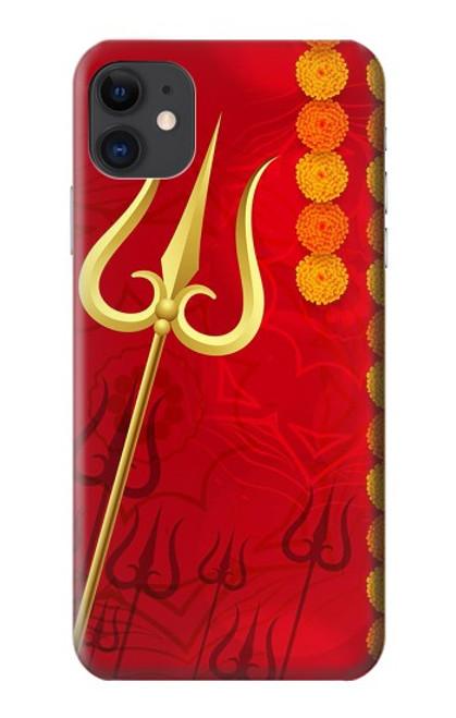 W3788 Shiv Trishul Hülle Schutzhülle Taschen und Leder Flip für iPhone 11