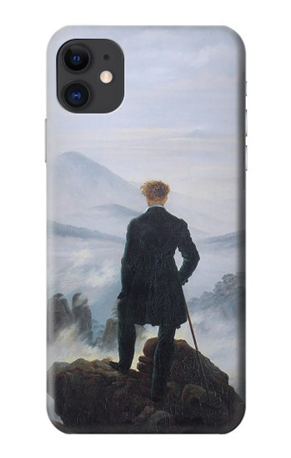 W3789 Wanderer above the Sea of Fog Hülle Schutzhülle Taschen und Leder Flip für iPhone 11