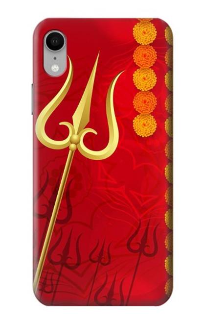 W3788 Shiv Trishul Hülle Schutzhülle Taschen und Leder Flip für iPhone XR