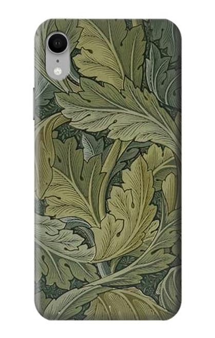 W3790 William Morris Acanthus Leaves Hülle Schutzhülle Taschen und Leder Flip für iPhone XR