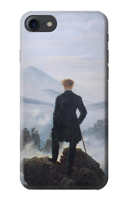 W3789 Wanderer above the Sea of Fog Hülle Schutzhülle Taschen und Leder Flip für iPhone 7, iPhone 8, iPhone SE (2020)