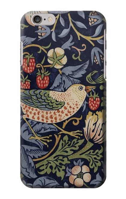 W3791 William Morris Strawberry Thief Fabric Hülle Schutzhülle Taschen und Leder Flip für iPhone 6 6S