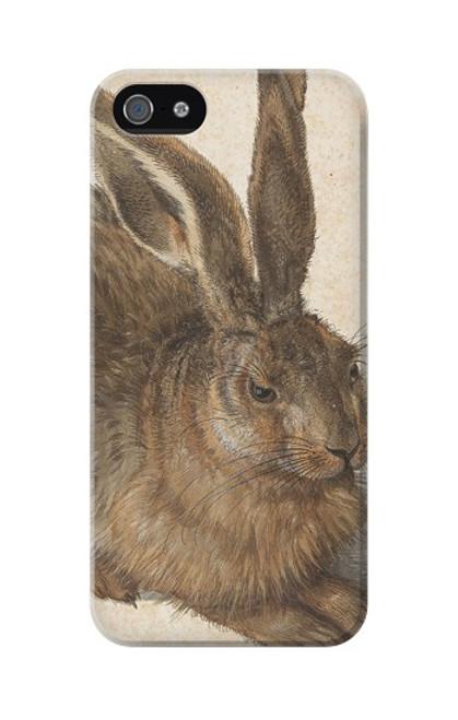 W3781 Albrecht Durer Young Hare Hülle Schutzhülle Taschen und Leder Flip für iPhone 5 5S SE