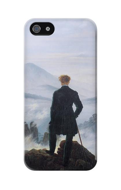 W3789 Wanderer above the Sea of Fog Hülle Schutzhülle Taschen und Leder Flip für iPhone 5 5S SE