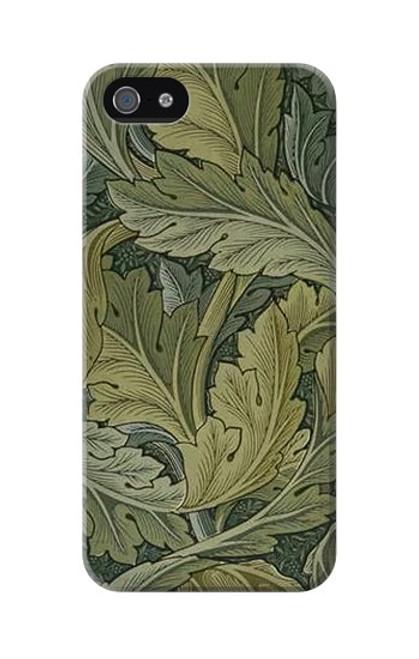W3790 William Morris Acanthus Leaves Hülle Schutzhülle Taschen und Leder Flip für iPhone 5 5S SE