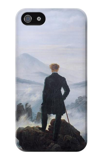 W3789 Wanderer above the Sea of Fog Hülle Schutzhülle Taschen und Leder Flip für iPhone 4 4S