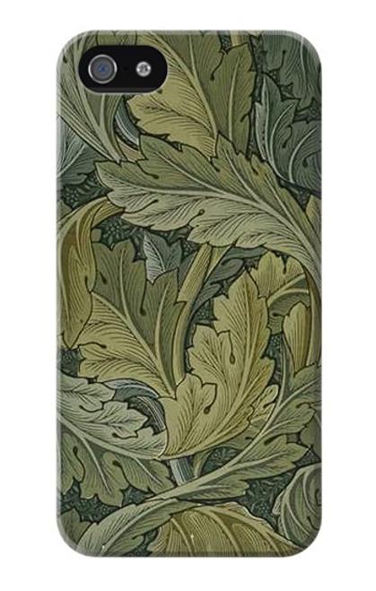 W3790 William Morris Acanthus Leaves Hülle Schutzhülle Taschen und Leder Flip für iPhone 4 4S