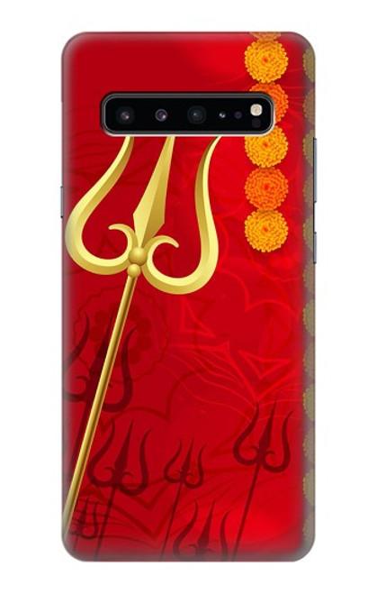 W3788 Shiv Trishul Hülle Schutzhülle Taschen und Leder Flip für Samsung Galaxy S10 5G