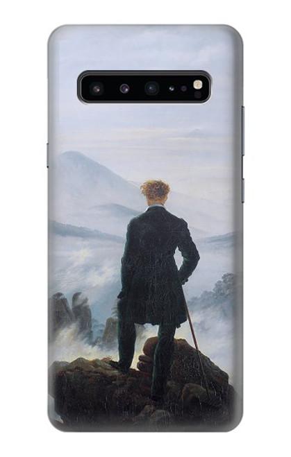 W3789 Wanderer above the Sea of Fog Hülle Schutzhülle Taschen und Leder Flip für Samsung Galaxy S10 5G