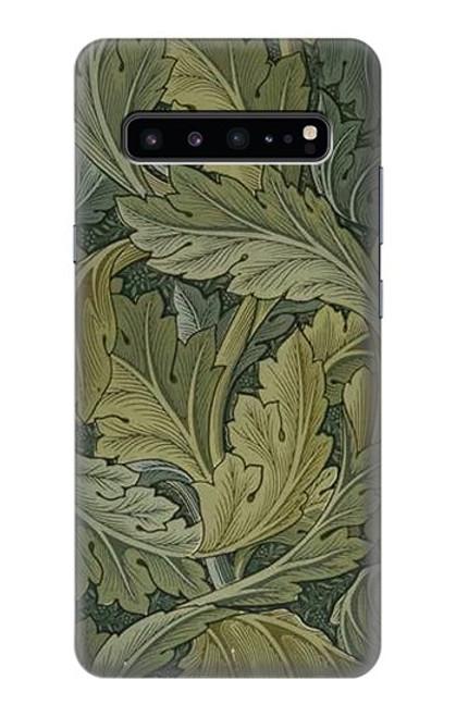 W3790 William Morris Acanthus Leaves Hülle Schutzhülle Taschen und Leder Flip für Samsung Galaxy S10 5G