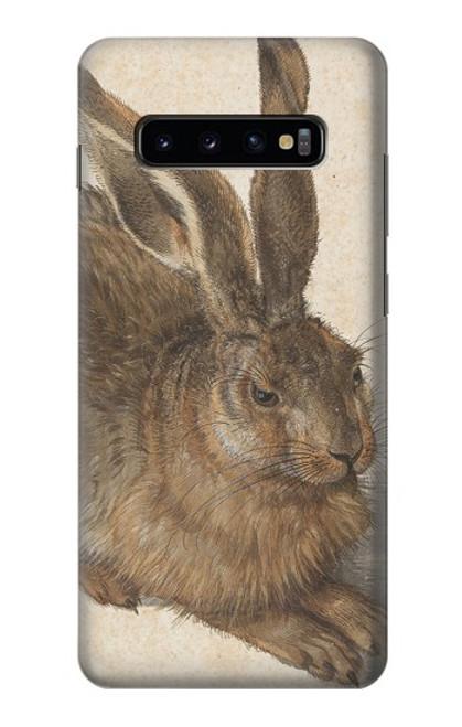 W3781 Albrecht Durer Young Hare Hülle Schutzhülle Taschen und Leder Flip für Samsung Galaxy S10 Plus