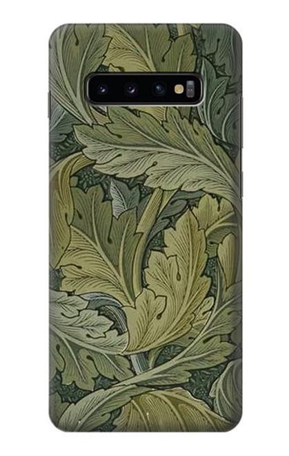 W3790 William Morris Acanthus Leaves Hülle Schutzhülle Taschen und Leder Flip für Samsung Galaxy S10 Plus