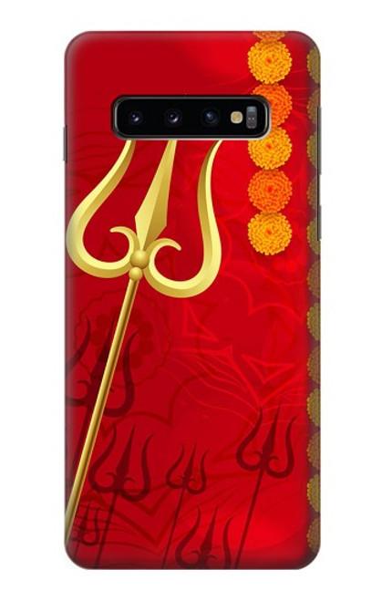 W3788 Shiv Trishul Hülle Schutzhülle Taschen und Leder Flip für Samsung Galaxy S10
