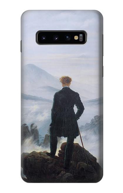 W3789 Wanderer above the Sea of Fog Hülle Schutzhülle Taschen und Leder Flip für Samsung Galaxy S10