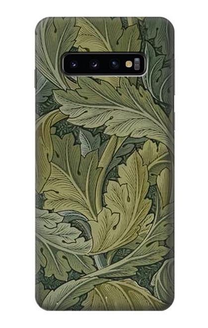 W3790 William Morris Acanthus Leaves Hülle Schutzhülle Taschen und Leder Flip für Samsung Galaxy S10