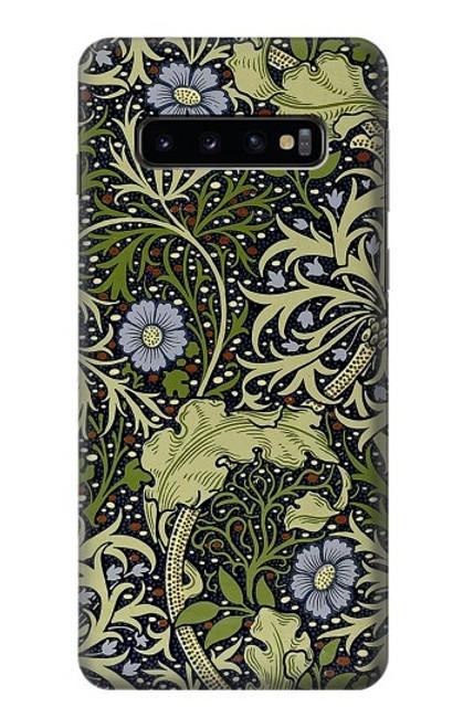 W3792 William Morris Hülle Schutzhülle Taschen und Leder Flip für Samsung Galaxy S10