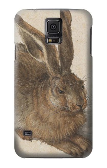 W3781 Albrecht Durer Young Hare Hülle Schutzhülle Taschen und Leder Flip für Samsung Galaxy S5