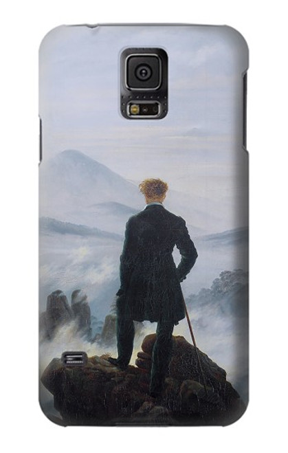 W3789 Wanderer above the Sea of Fog Hülle Schutzhülle Taschen und Leder Flip für Samsung Galaxy S5