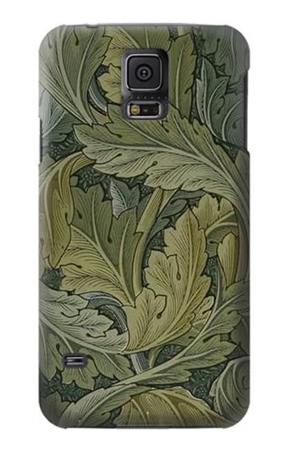 W3790 William Morris Acanthus Leaves Hülle Schutzhülle Taschen und Leder Flip für Samsung Galaxy S5
