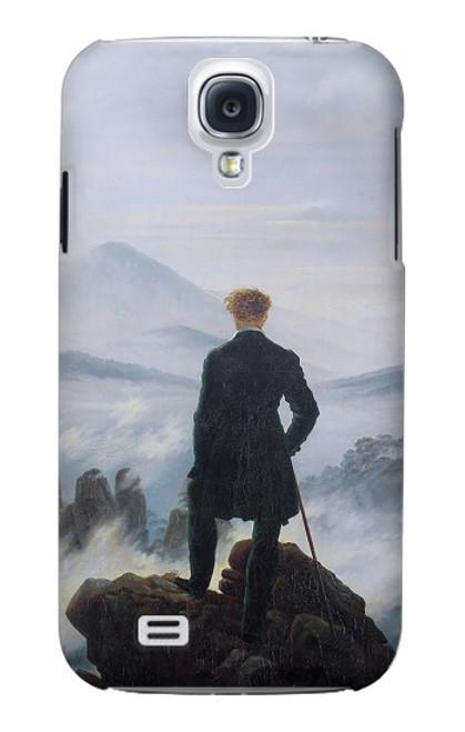 W3789 Wanderer above the Sea of Fog Hülle Schutzhülle Taschen und Leder Flip für Samsung Galaxy S4
