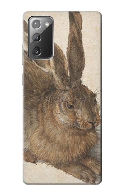 W3781 Albrecht Durer Young Hare Hülle Schutzhülle Taschen und Leder Flip für Samsung Galaxy Note 20