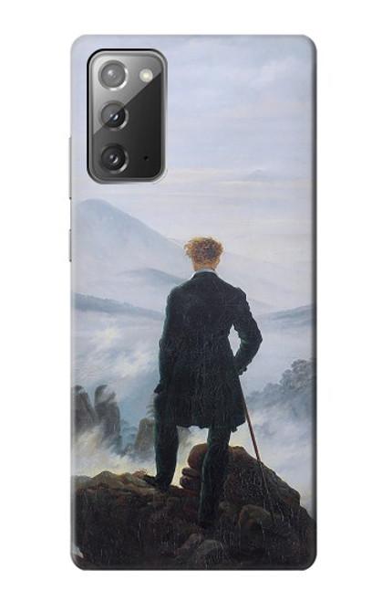 W3789 Wanderer above the Sea of Fog Hülle Schutzhülle Taschen und Leder Flip für Samsung Galaxy Note 20