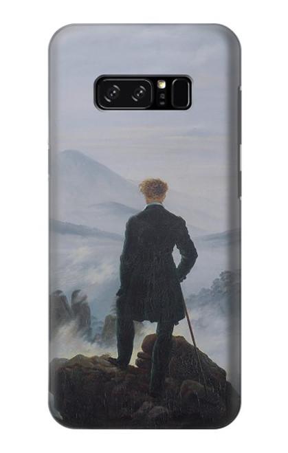 W3789 Wanderer above the Sea of Fog Hülle Schutzhülle Taschen und Leder Flip für Note 8 Samsung Galaxy Note8