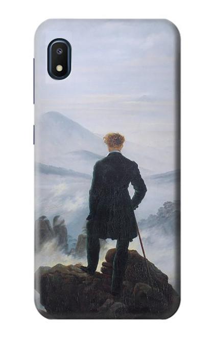 W3789 Wanderer above the Sea of Fog Hülle Schutzhülle Taschen und Leder Flip für Samsung Galaxy A10e