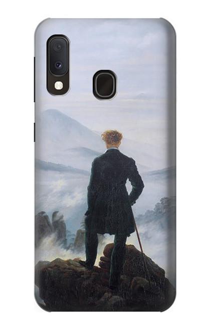 W3789 Wanderer above the Sea of Fog Hülle Schutzhülle Taschen und Leder Flip für Samsung Galaxy A20e