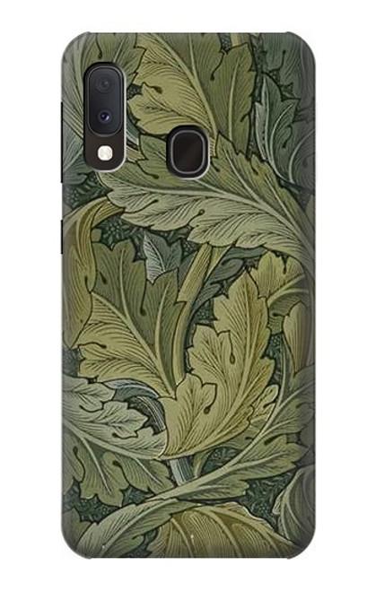 W3790 William Morris Acanthus Leaves Hülle Schutzhülle Taschen und Leder Flip für Samsung Galaxy A20e
