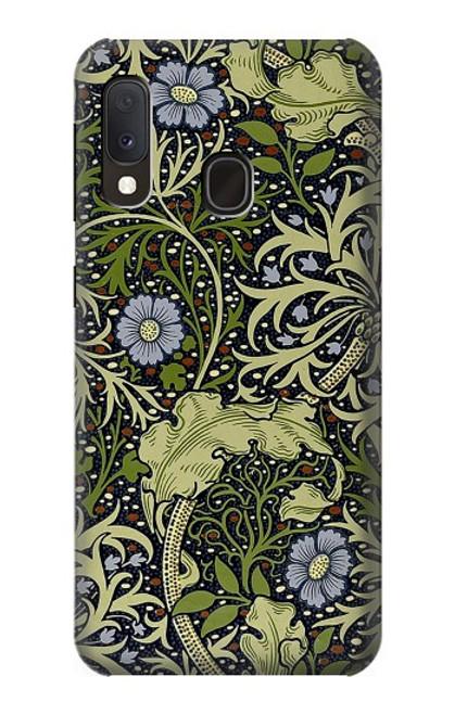 W3792 William Morris Hülle Schutzhülle Taschen und Leder Flip für Samsung Galaxy A20e