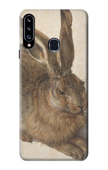 W3781 Albrecht Durer Young Hare Hülle Schutzhülle Taschen und Leder Flip für Samsung Galaxy A20s