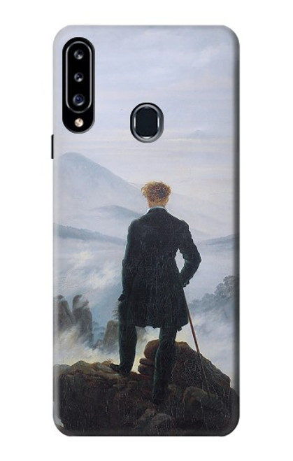 W3789 Wanderer above the Sea of Fog Hülle Schutzhülle Taschen und Leder Flip für Samsung Galaxy A20s