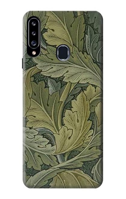W3790 William Morris Acanthus Leaves Hülle Schutzhülle Taschen und Leder Flip für Samsung Galaxy A20s