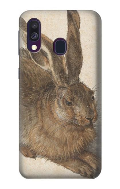 W3781 Albrecht Durer Young Hare Hülle Schutzhülle Taschen und Leder Flip für Samsung Galaxy A40