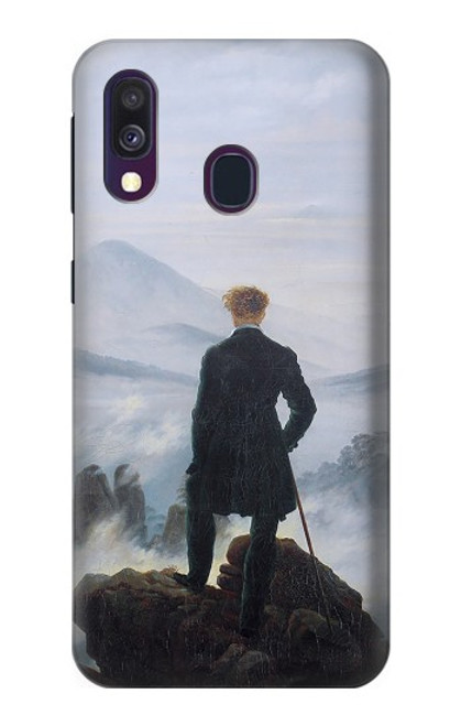 W3789 Wanderer above the Sea of Fog Hülle Schutzhülle Taschen und Leder Flip für Samsung Galaxy A40