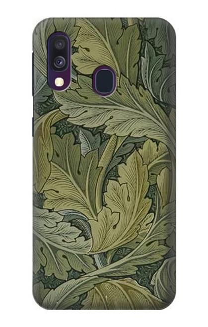 W3790 William Morris Acanthus Leaves Hülle Schutzhülle Taschen und Leder Flip für Samsung Galaxy A40