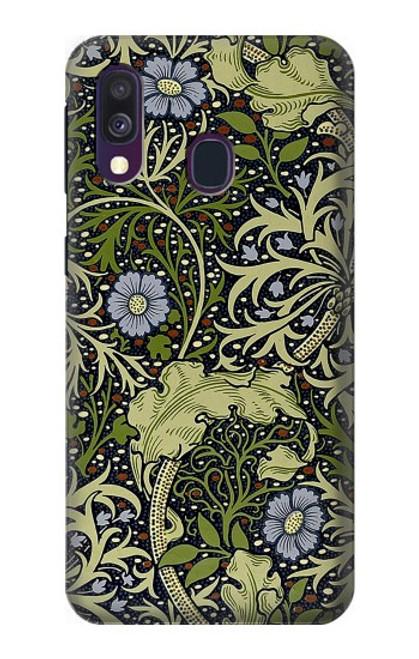 W3792 William Morris Hülle Schutzhülle Taschen und Leder Flip für Samsung Galaxy A40