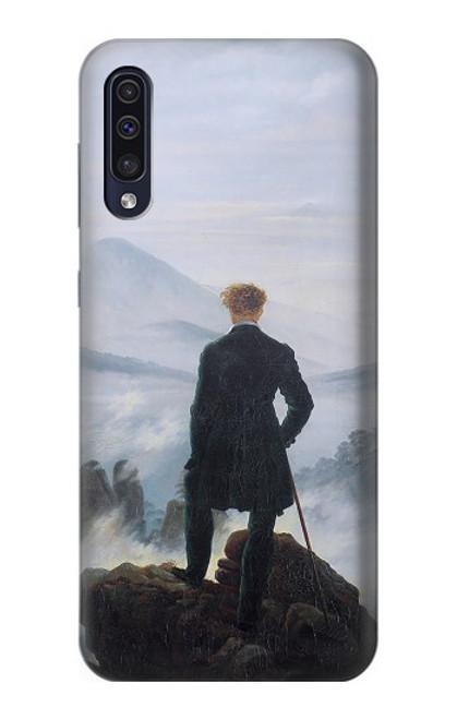 W3789 Wanderer above the Sea of Fog Hülle Schutzhülle Taschen und Leder Flip für Samsung Galaxy A50