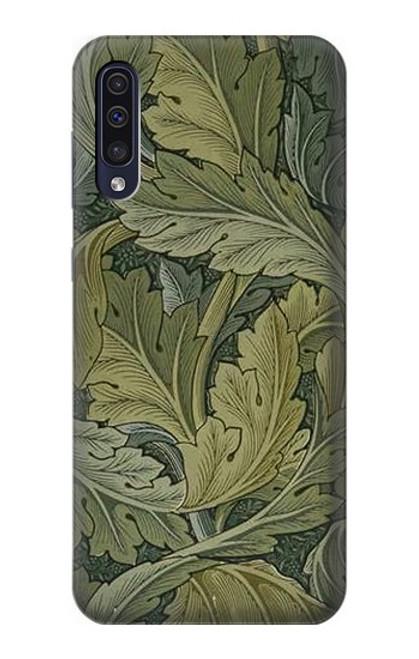W3790 William Morris Acanthus Leaves Hülle Schutzhülle Taschen und Leder Flip für Samsung Galaxy A50