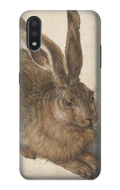 W3781 Albrecht Durer Young Hare Hülle Schutzhülle Taschen und Leder Flip für Samsung Galaxy A01
